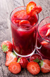 Strawberry Liqueur with fresh fruits