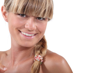 Young blonde with bangs