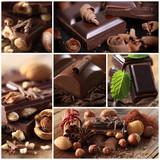 Fototapety Schokolade - Collage