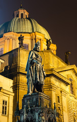 Carol IV statue,king of Bohemia. Prague