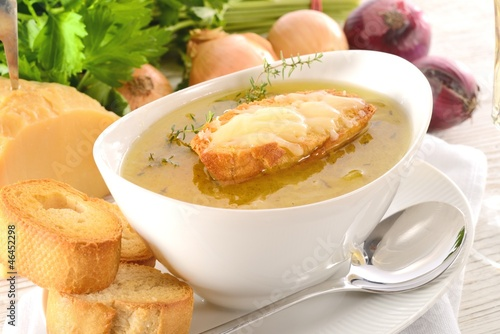 Paris onion soup