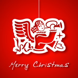 Christmas angel applique background