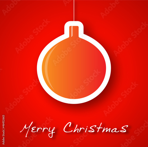 Christmas orange ball applique background