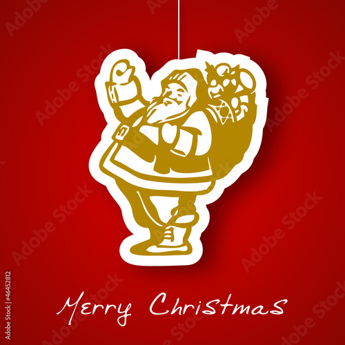 Santa applique background
