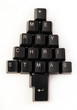 Keyboard keys wishing a merry Christmas