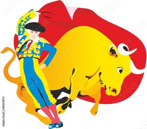 Staande foto Stierenvechten torero