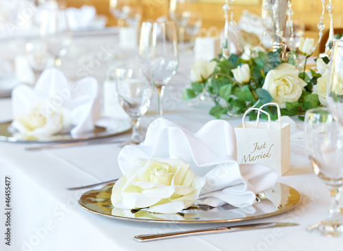 Wedding banqueting table