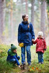 Family at autumn park