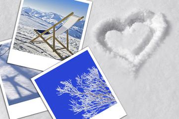 Composition photos sur neige