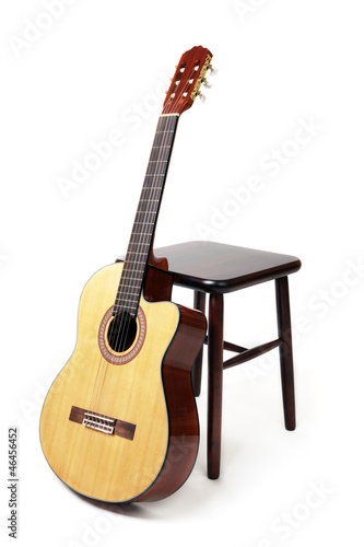 guitar and stool