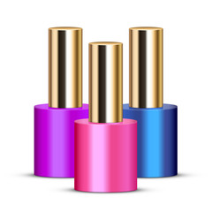 Vector illustration of nail polishes