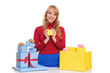 woman with Gift Boxes