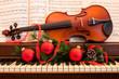 Leinwanddruck Bild - Holiday Music