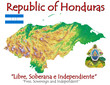 Honduras national emblem map symbol motto