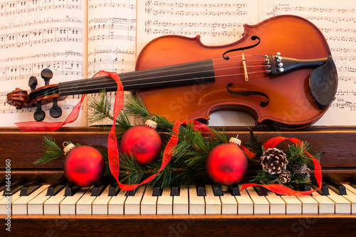 Leinwanddruck Bild Holiday Music
