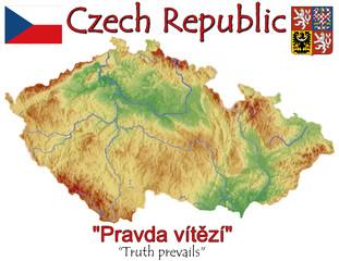 Czech Republic national emblem map symbol motto