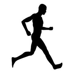 Silhouette eines Läufers