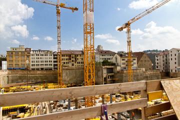 Großbaustelle in Stuttgart
