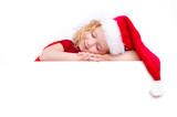 kind beim schlafen weihnachten