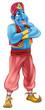 Friendly Jinn or genie standing