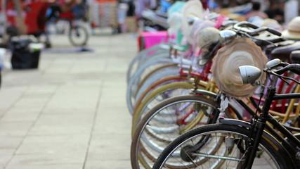 bicycle rental, kota, jakarta, indonesia