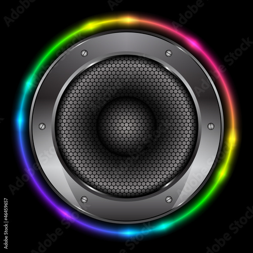 Vector colorful background with Sound Speaker