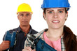 Male and female laborers