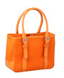 Luxury orange fabric handbag