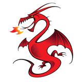 Red Dragon mythology legend beast tale fantasy poster