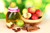 Honey and apples with cinnamon