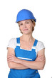 woman in working clothes