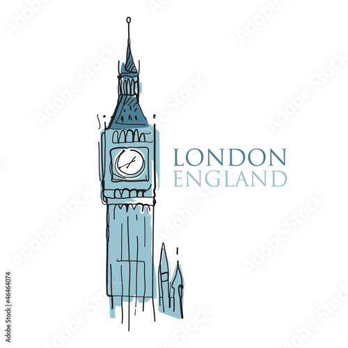 World famous landmark - Big Ben London England