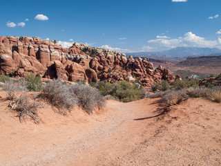 Desert autour de Fiery furnace - parc des arches
