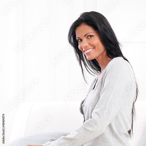 Smiling latin woman