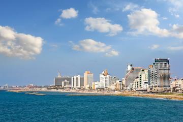 The Tel Aviv promenade at sunny day