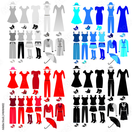 colorful woman clothes