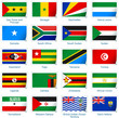 Sticker flags Africa 3 of 3