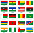 Sticker flags Africa 2 of 3