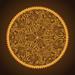 Hand-Drawn Ornamental Round Lace