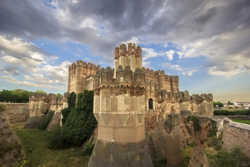 View of Castle of Coca in Segovia, Castilla-Leon, Spain