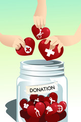 Making donation