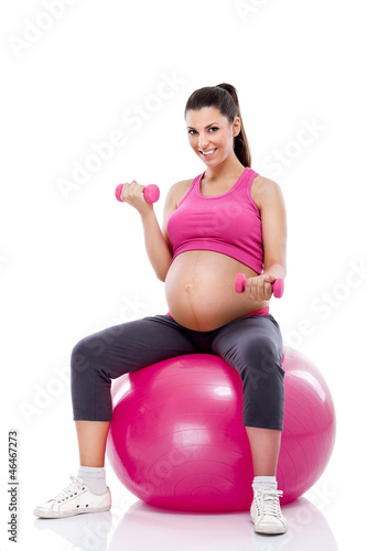 Fitness pregnant lady