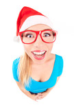 Photo of a funny Santa girl