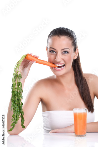 Woman with healthy and fresh food