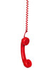 Red telephone cable hanging - 46467886