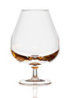 Empty brandy (balloon) glass isolated on white