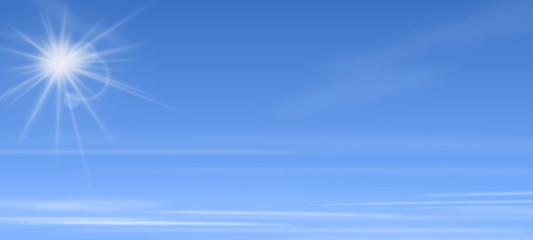 Blauer Himmel mit Sonne
