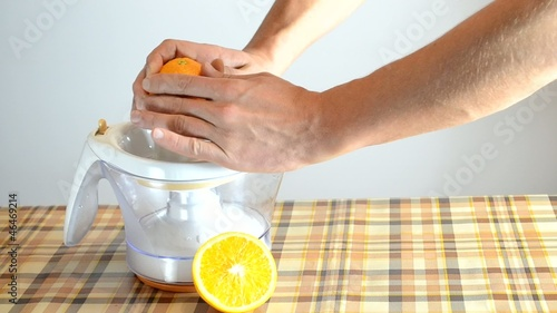 production bracing fresh orange juice