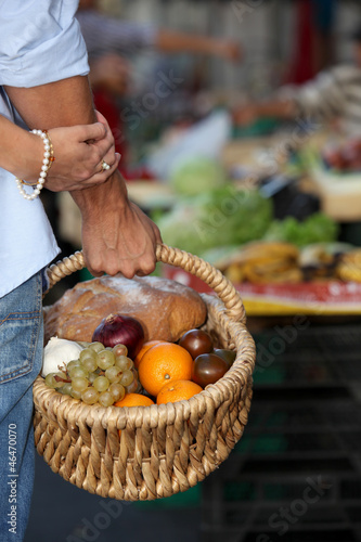 A basket full of healthy food