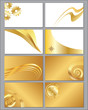 Eight gold business cards